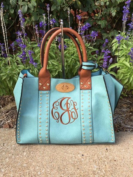large variety of colors offered   3 for 1  monogrammed purse