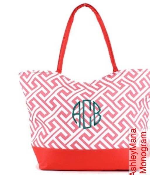 Peach Large Beach Pool Or Lake Tote Ashley Maria