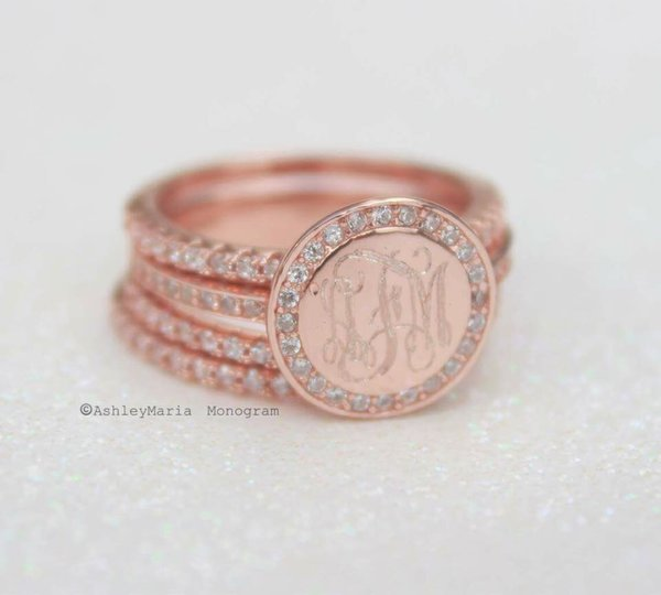 Rose Gold Cubic Zirconia Ring Ashley Maria Incorporated